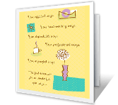 Thanks for All<br>That You Do administrative professionals day printable cards