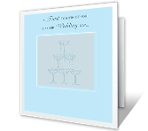 A Toast to the<br>Bride and Groom! wedding printable cards