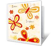 Happier Days happy birthday printable cards
