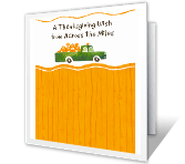 Harvest of Happiness thanksgiving printable cards