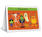 Chills and Thrills printable halloween card
