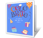 Celebrate Special happy birthday printable cards