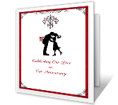 Celebrating Our Love happy anniversary printable cards