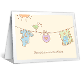 Lucky Baby congratulations on baby printable cards