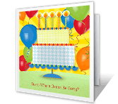 Guess Who's...? happy birthday printable cards