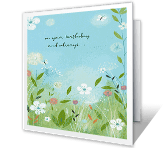 Wishing You Joy happy birthday printable cards