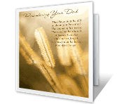 His Memory Lives On sympathy printable cards