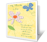You're the Nicest saying thanks printable cards