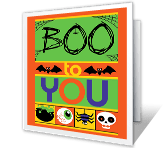 Boo To You printable halloween card