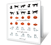 Spooky Wishes halloween printable cards