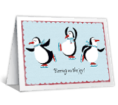 Holiday Penguins christmas printable cards