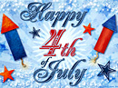 Happy 4th of July!<br>Postcard