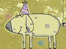 Birthday Balloon <br> Postcard Birthday Postcards