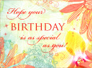 Special Birthday<br>Postcard Birthday Postcards