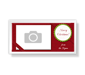 Merry Christmas<br>4 x 8 photo card christmas printable cards