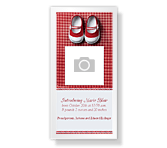New Baby Girl<br>4 x 8 photo card birth announcement printable cards