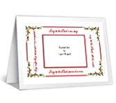 Sing to the Lord!<br>Add-a-Photo christmas printable cards