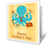 A Perfect Dad printable fathers day card