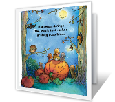 Moonlit Fun Halloween printable halloween card