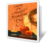 A Day to Share printable thanksgiving card