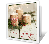 Christmas Joy printable christmas card