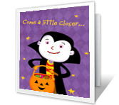 A Vampire Vish printable halloween card