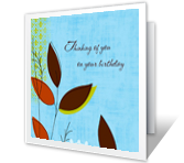 Happy Wishes happy birthday printable cards