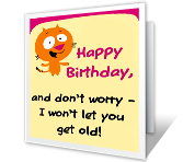 Over The Hill Birthday Printable Cards - You're Not Old!