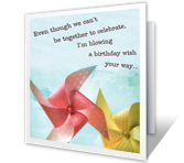 Blowing a Wish<br>Your Way happy birthday printable cards
