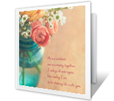 You Make Me Happy happy anniversary printable cards