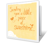 A Little Sunshine get well printable cards