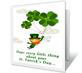 A Wee Wish st. patricks day printable cards