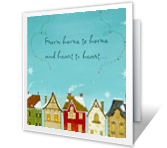 Warmest Wishes printable christmas card