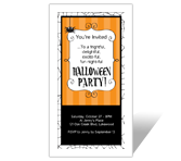 Halloween Printable Cards - Fun Night-ful Party-Invitation