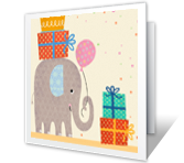 Hope It was Happy belated birthday printable cards