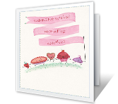 Sweet Treats printable valentine card