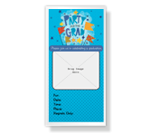 Party for the Grad<br>Invitation graduation printable cards