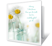 You're Amazing printable mothers day card