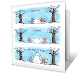 Hanukkah Printable Cards - Make It Happy!