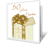 50 Years Together greeting card