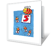 5th Birthday printable card