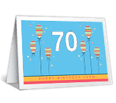 70th Birthday printable card