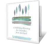 A Birthday Blessing printable card