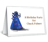 A Birthday Party printable card