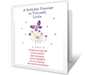 A Birthday Promise printable card
