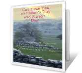 A Blessing for You, Dad printable card