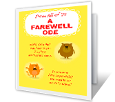 A Farewell Ode printable card