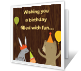 A Fun Birthday greeting card