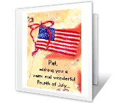 A Good 4th and Summer printable card
