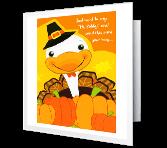 A Great Turkey Day greeting card